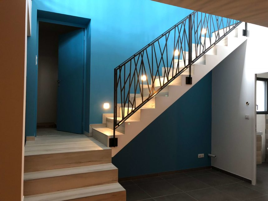 Stéphen Mure Architecte - Saint-Etienne - Maison passive - Nelly & Yoann - Escalier