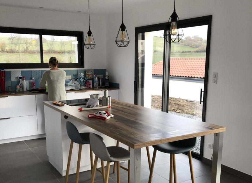 Stéphen Mure Architecte - Saint-Etienne - Maison passive - Nelly & Yoann - Cuisine