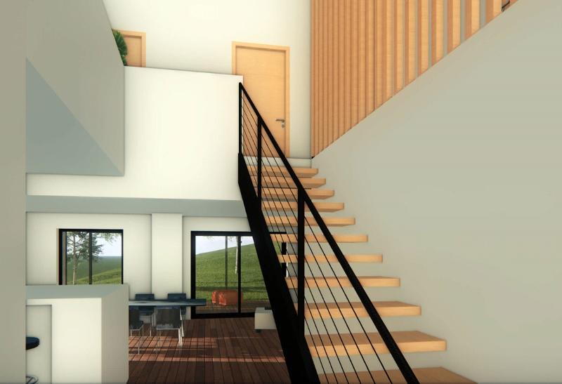Stéphen Mure Architecte - Saint-Etienne - Maison individuelle - Anne-Lise & Cédric - Hall d'entrée
