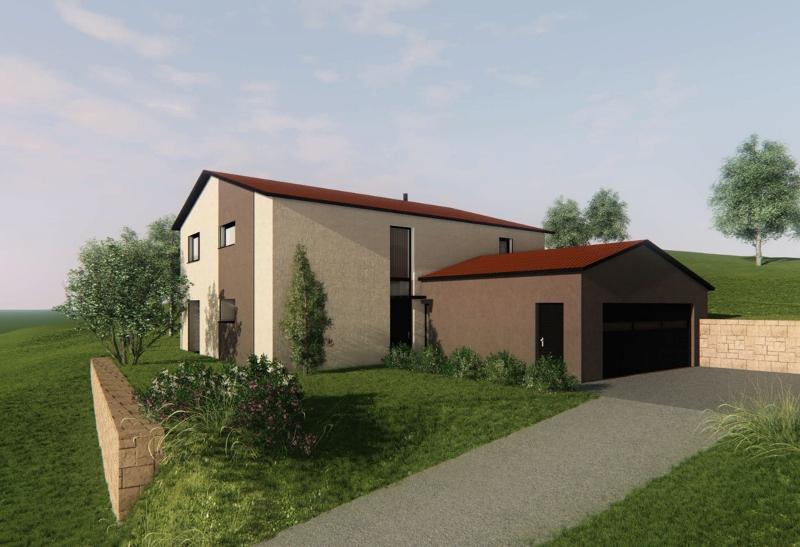 Stéphen Mure Architecte - Saint-Etienne - Maison individuelle - Maison Anne-Lise & Cédric - Vue depuis accès