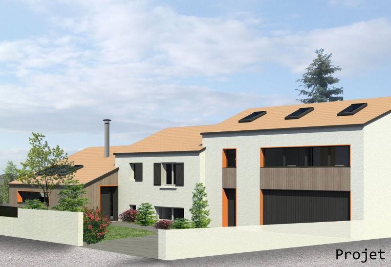Stéphen Mure Architecte - Saint-Etienne - Extension de maison - Maison Laetitia & David - Vue d'ensemble - Projet