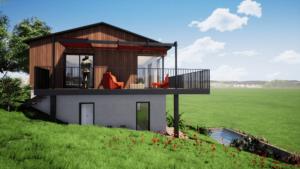 Construction Maison bois dans le Pilat - Stéphen Mure Architecte Saint-Etienne - Habitat Maison passive 03