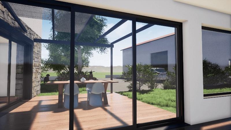 Extension ossature bois – Piscine intérieure