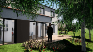 Construction Maison sur la colline - Stéphen Mure Architecte Saint-Etienne - Habitat Maison passive - 14 Jardin