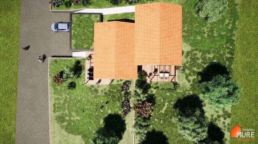 Maisons jumelées Planfoy - Stéphen Mure Architecte - Habitat et Maison passive (1) - Vue d'ensemble