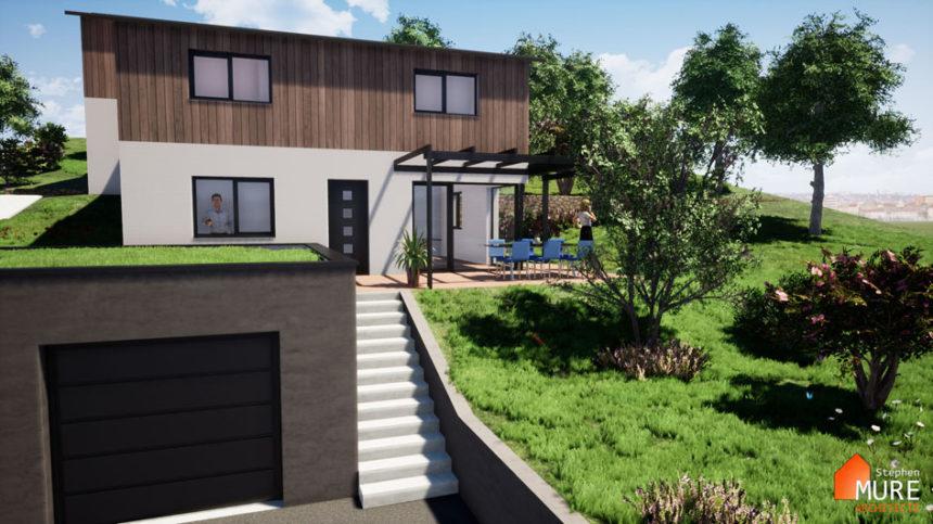 Maisons jumelées Planfoy - Stéphen Mure Architecte - Habitat et Maison passive (2) - Accès Maison 1