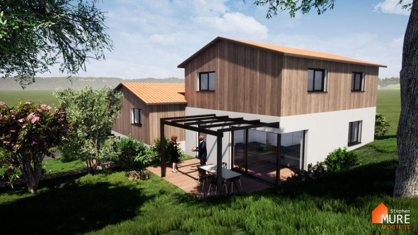 Maisons jumelées Planfoy - Stéphen Mure Architecte - Habitat et Maison passive (5) - Jardin Maison 2