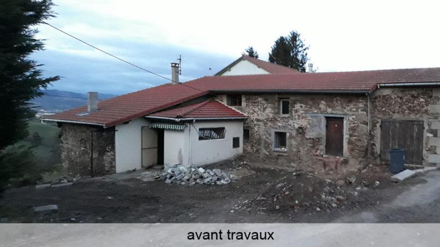 Réhabilitation Maison pierres - Saint-Chamond - Stéphen Mure Architecte - Maison passive (1) Avant travaux