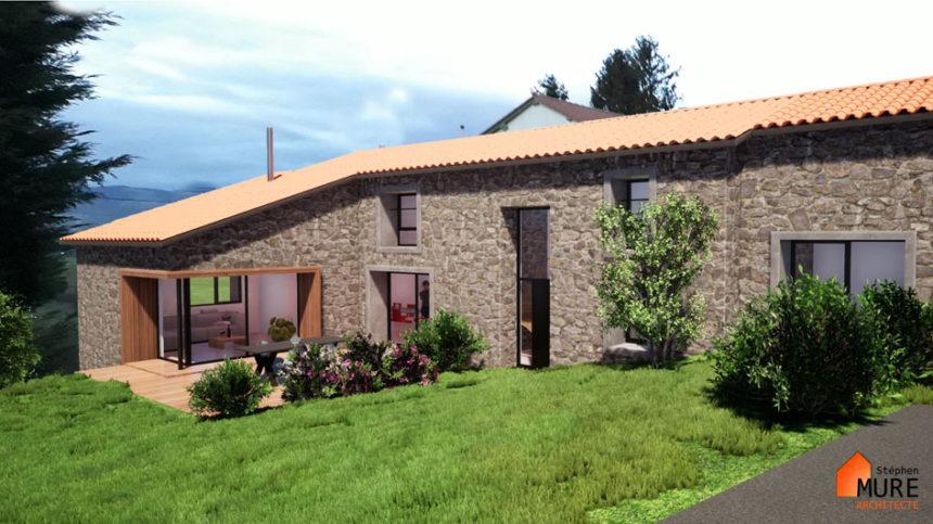Réhabilitation Maison pierres - Saint-Chamond - Stéphen Mure Architecte - Maison passive (2) Vue d'ensemble