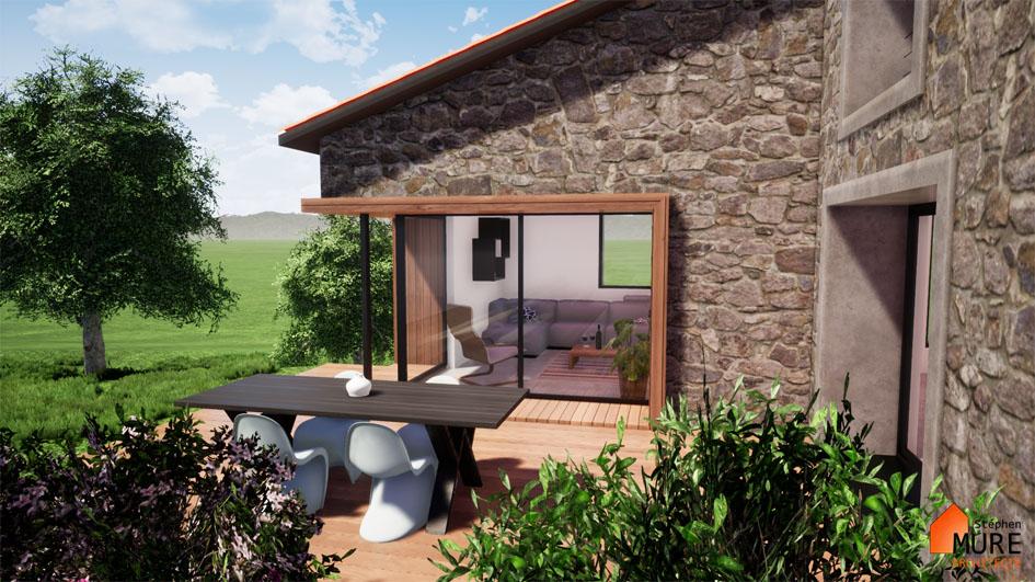 Réhabilitation d'une maison en pierres