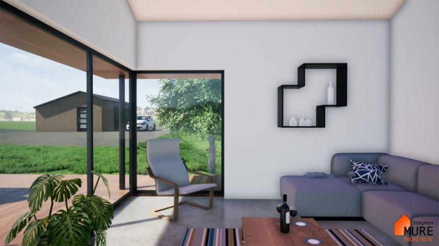 Réhabilitation Maison pierres - Saint-Chamond - Stéphen Mure Architecte - Maison passive (7) Salon