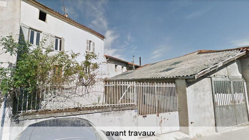 Réhabilitation de 4 logements en centre bourg - Champdieu - Stéphen Mure Architecte - Maison passive (2) Avant travaux
